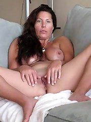Nasty mature whore playing herself