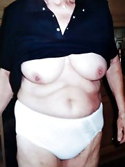 Exciting older MILF baring it all on picture