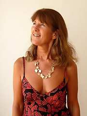 Adored mature females getting undressed on photo