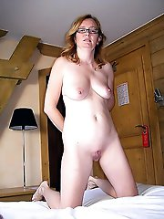 American older babe with shaved cunt