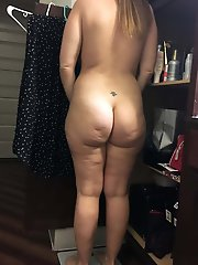 Older female posing naked for money