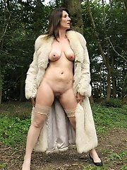 Russian mature woman in sexy clothes