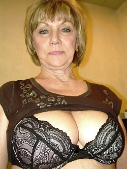 Granny spreading her pussy