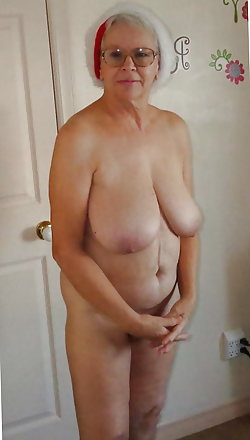 Old mademoiselle having enormous breasts