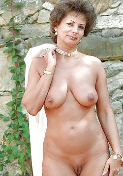 Delightful older bitches in provocative bra