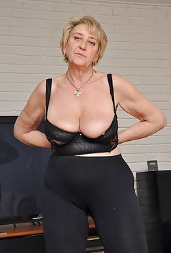 Remarkable granny photos with matures in lingerie