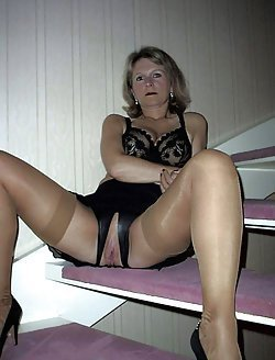 Mature ladies get naked outdoor