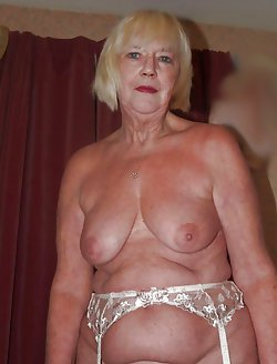 Stunning old mademoiselle goes nude in a hot photoshoot