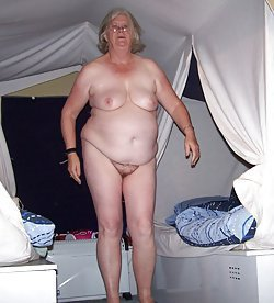 GILFs with huge saggy tits are posing nude