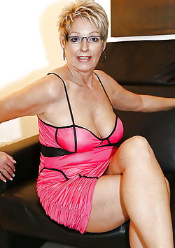 Awesome aged MILFs get undressed for you