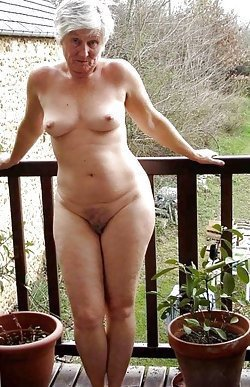 Completely shameless mature women are posing topless